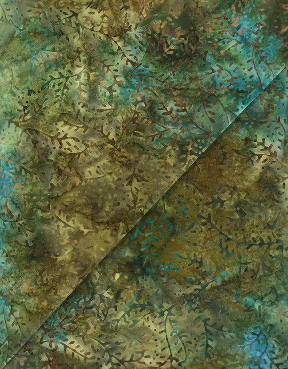 #4011 - Blu, Green, Brown - Batik