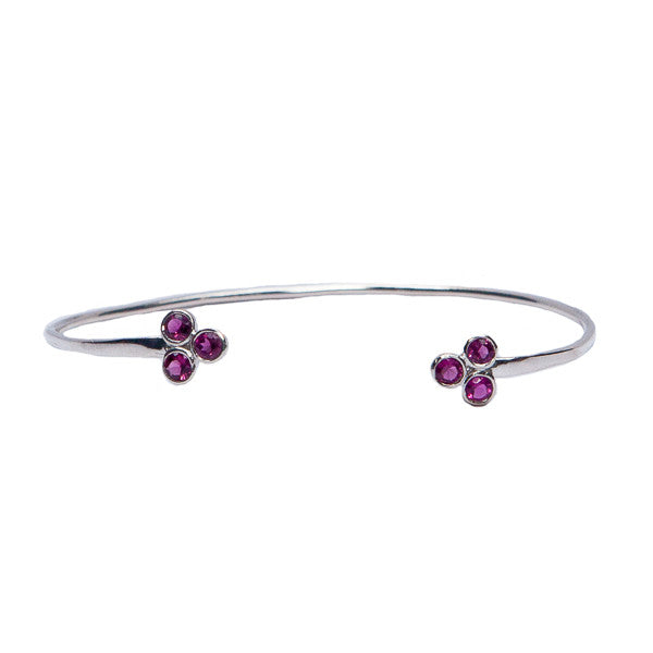 Ruby Triangle Cuff