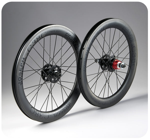 Joseph Kuosac 349 24/28 Carbon Wheelset for Brompton Bicycle
