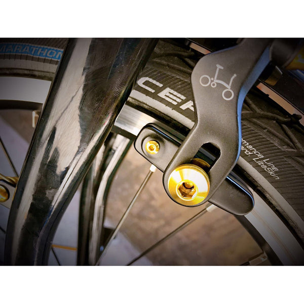 Details about  /Lightweight Titanium Alloy Lower Stop Disc for BROMPTON Gold union jack