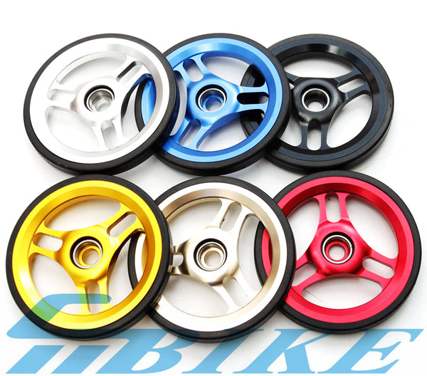 ACE Big Size 60mm Double Mudguard Fender Wheels Rollers for Brompton Bicycle