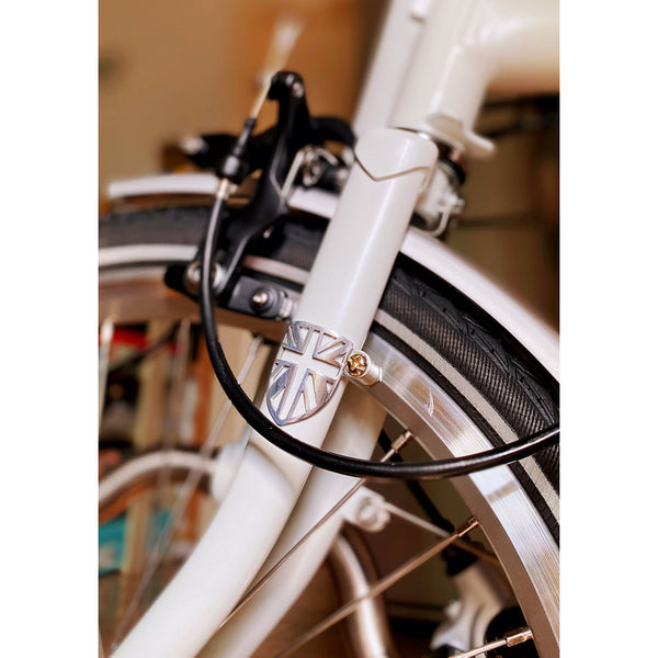 Union Jack Cable Fender Disc Wire Guard for Brompton Bicycle protection black