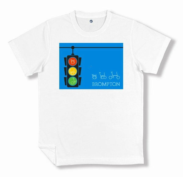 F+ Brompton Bicycle Brompton Traffic Light T-Shirt