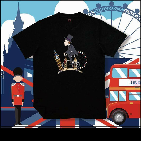 F+ Brompton Bicycle Travel Around the World London T-Shirt