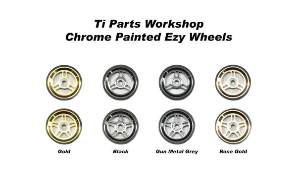 Ti Parts Workshop Chrome 66mm Aluminum Eazy Wheels for Brompton Bicycle