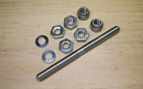 Ti Parts Workshop Titanium Axle for Brompton Bicycle Front Hub