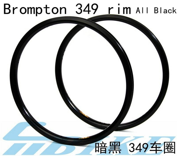 "ACE Black color 16"" 349 Bicycle Rims"