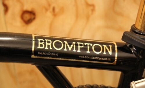 2016 Style Brompton Bicycle Metallic Frame Decal Sticker