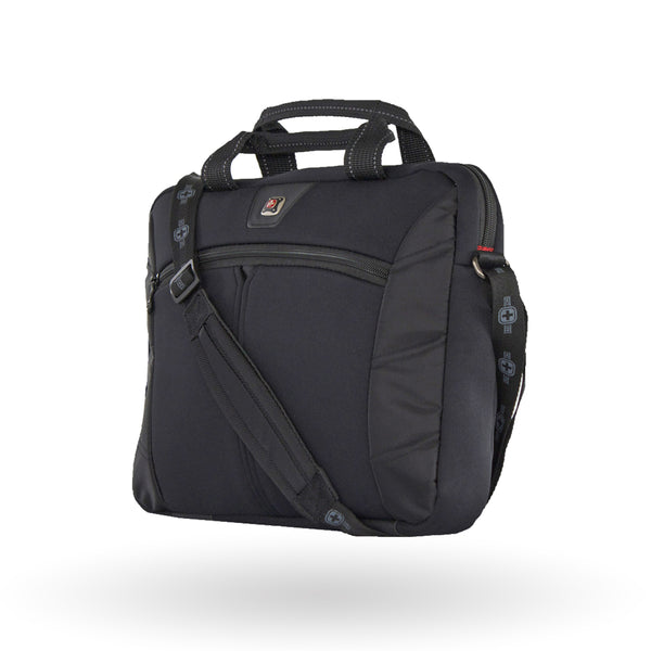 "Maletín  Porta Laptop Swiss Gear Sherpa Slim 14.1"", 27686020, Color Negro y Morado"