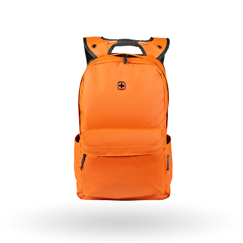 "Mochila Wenger Photon, para laptop de 14"", 605095, color naranja, repelente al agua"