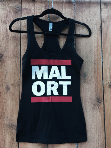 Ladies Rap Malort NO Umlaut Tank Top