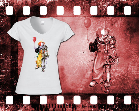 IT - Pennywise - Ladies White T-Shirt