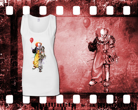 IT - Pennywise - Ladies White Tank Top