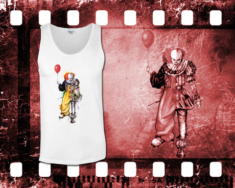 IT - Pennywise - Mens White Tank Top