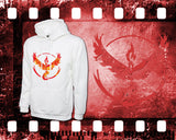 Pokemon - Team Valor - Mens and Ladies White Shirt/Hooded Top