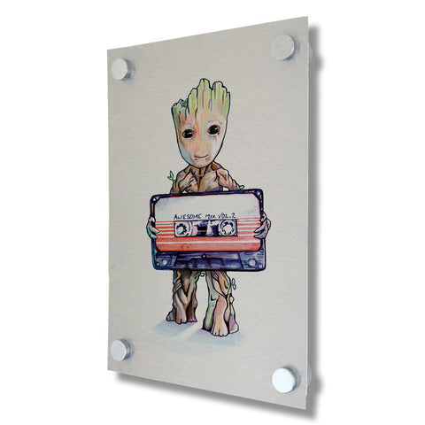Guardians of the Galaxy - Baby Groot - Brushed Metal Print