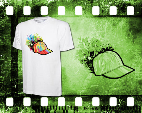 Original Art Inspired by Back to the Future - Mens White T-Shirt