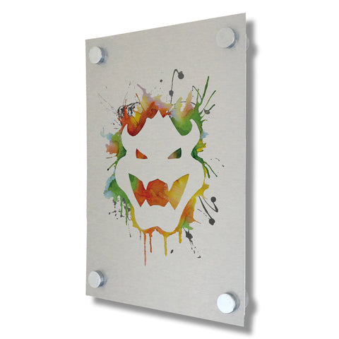 Bowser - Mario Collection - Brushed Metal Print