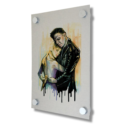 Buffy The Vampire Slayer - Buffy & Angel - Brushed Metal Print