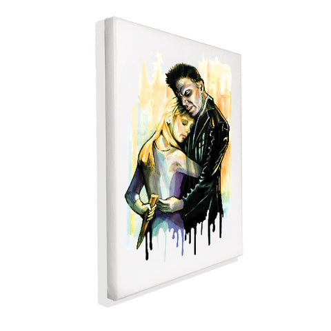 Buffy The Vampire Slayer - Buffy & Angel - Wall Canvas