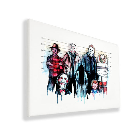 The Horror Line Up - Wall Canvas