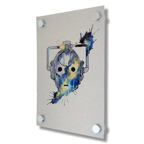 Dr Who - Cyberman - Brushed Metal Print