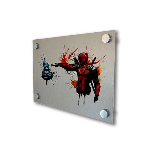 Deadpool - Brushed Metal Print
