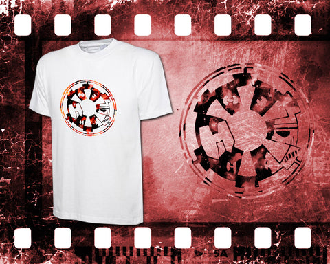 Original Art Inspired by Star Wars - Imperial Empire - Mens White T-Shirt