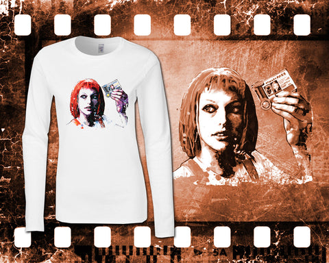 The Fifth Element - Leeloo - Ladies White Long Sleeve Shirt