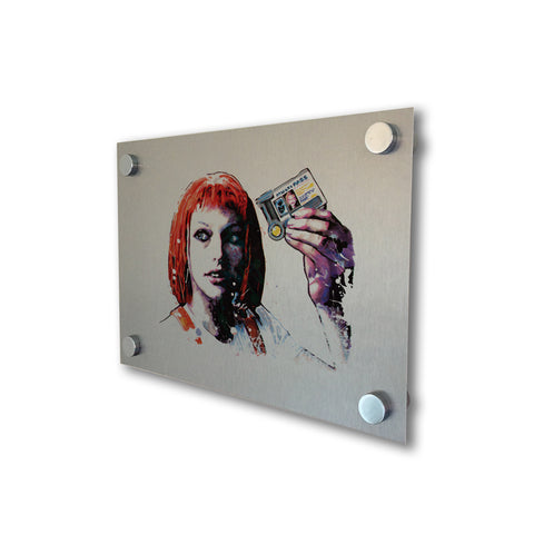 The Fifth Element - Brushed Metal Print