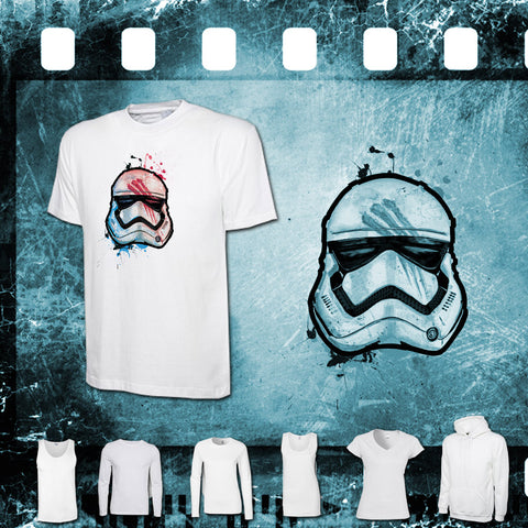 Star Wars - Stormtrooper Finn - Mens and Ladies White Shirt/Hooded Top