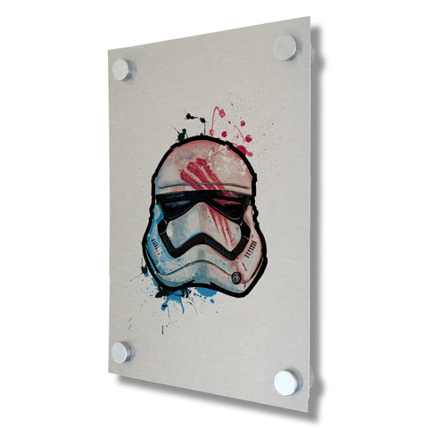 Star Wars - Stormtrooper Finn - Brushed Metal Print