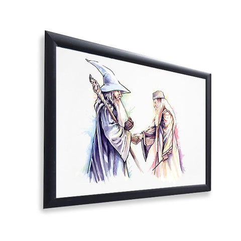 Gandalf and Dumbledore - Gloss Print