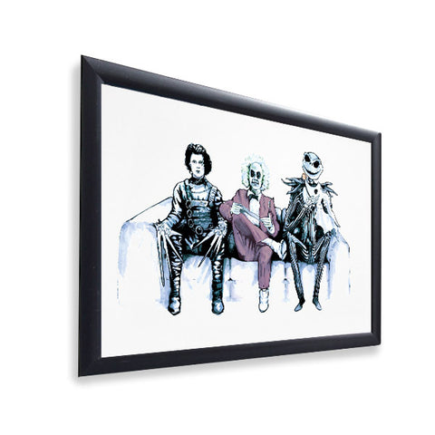 Tim Burton Cast - Beetlejuice, Ed and Jack - Gloss Print