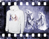 Lord of the Rings & Harry Potter - Gandalf and Dumbledore - Mens and Ladies White Shirt/Hooded Top