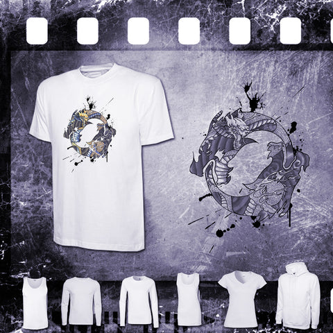 Overwatch - Hanzo Spray Tag - Mens and Ladies White Shirt/Hooded Top