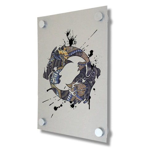 Overwatch - Hanzo Spray Tag - Brushed Metal Print