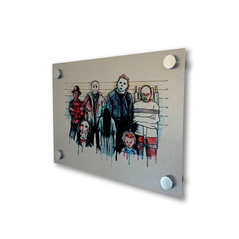 The Horror Line Up - Brushed Metal Print