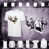 Horror Comedy Trio - Evil Dead, Shaun of the Dead & Zombieland - Mens and Ladies White Shirt/Hooded Top