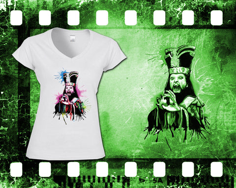Original Art Inspired by Big Trouble In Little China - Lo Pan - Ladies White T-Shirt