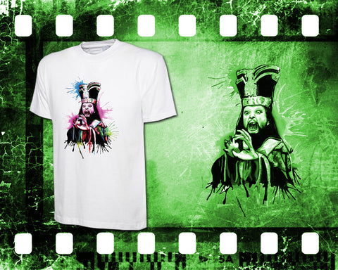 Original Art Inspired by Big Trouble In Little China - Lo Pan - Mens White T-Shirt