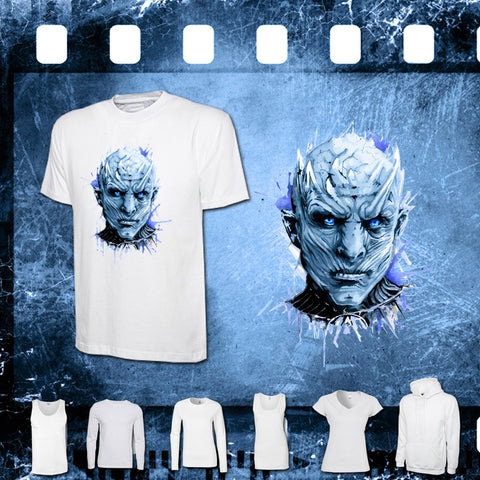 Game of Thrones - The Night King - Mens and Ladies White Shirt/Hooded Top