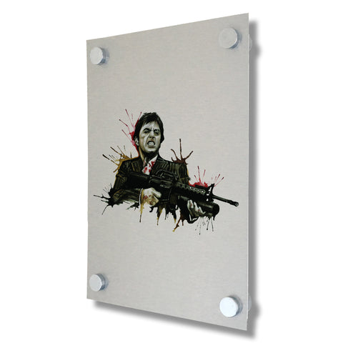 Scarface - Brushed Metal Print