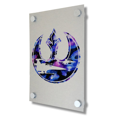 Star Wars - Rebel Alliance - Brushed Metal Print