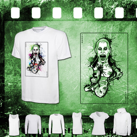 Suicide Squad - Joker & Harley - Mens and Ladies White Shirt/Hooded Top