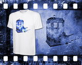 Dr Who - The Tardis - Mens and Ladies White Shirt/Hooded Top