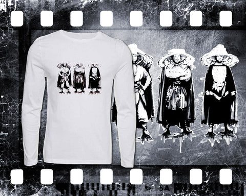 Original Art Inspired By Big Trouble In Little China - The Three Storms - Mens White Long Sleeve Shirt