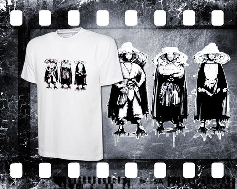 Original Art Inspired by Big Trouble in Little China - The Three Storms - Mens White T-Shirt