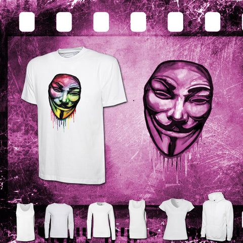 V For Vendetta - Mens and Ladies White Shirt/Hooded Top
