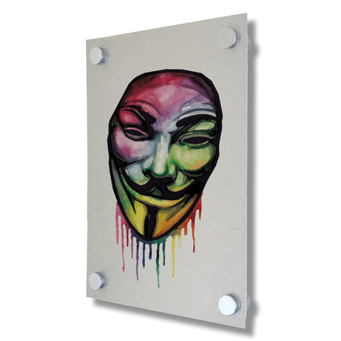 V For Vendetta - Brushed Metal Print